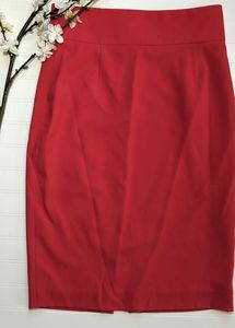 Tahari ASL Red High Waisted Pencil Skirt